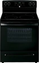Kenmore 5 7 cu  ft  Self Clean Electric Range in Black  includes delivery and