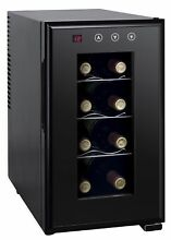 SPT WC 0888H Thermo Electric Slim Wine Cooler   8 Bottles Black