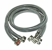 Eastman 48376 Washing Machine Hose with  90 Degree Elbow  1 Pair 4 ft Length