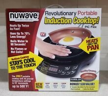 NuWave PIC Flex Precision Induction Cooktop with 9  Hard Anodized Fry Pan