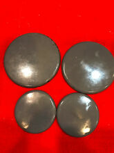 Whirlpool Stove Surface Burner Caps Black Set of 4