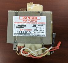 GE  MICROWAVE HIGH VOLTAGE TRANSFORMER  OEM  PART   WB27X10133