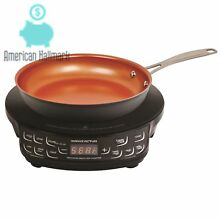 NuWave Induction Cooktop with 9 Inch Frying Pan Flex Precision Variable Temp