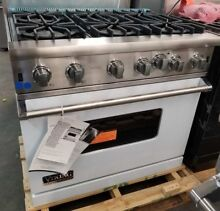 NEW OUT OF BOX VIKING 36  RANGE 6 OPEN BURNERS LARGE OVEN WHITE