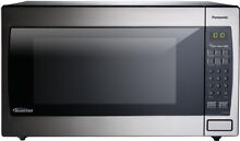 Panasonic 2 2 cu  ft  Countertop Microwave Oven in Stainless Steel Built In