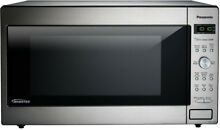 Panasonic 2 2 cu  ft  Countertop Microwave in Stainless Steel Built in Capable