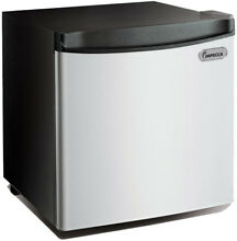 Impecca 1 7 cu  ft  Mini Refrigerator in Stainless Look Front