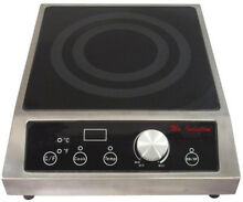 SPT 12 6 in 3400 Watt Tempered Glass Countertop Electric Commercial Cooktop in