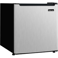 Magic Chef Energy Star 1 7 Cu Ft Mini Fridge  Stainless Steel Door