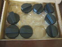 Genuine NOS THERMADOR Black Knobs For Cooktop  8 knobs  For Professional Series