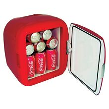 Coca Cola 12 can Portable Compact Electric Beverage Cooler Fridges Red
