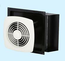 Kitchen Exhaust Fan White through Wall Ventilation Laundry Room Workshop