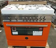 NEW OUT OF BOX BERTAZZONI PROFESSIONAL SERIES 36  ALL GAS RANGE IN ORANGE