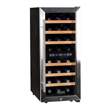 Koldfront TWR247ESS 24 Bottle Free Standing Dual Zone Wine Cooler   Black and