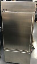 36  GE Monogram stainless steel bottom freezer refrigerator