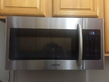 Samsung ME16H702SE 30  Stainless Over The Range Microwave Used