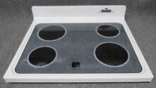 WB62X5468 GE RANGE OVEN MAIN TOP GLASS COOKTOP WHITE W  BURNERS