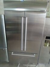 Kitchen Aid 42 in Built in Stainless French Refrigerator