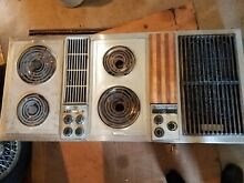 Jenn Air 48  C301 3 Bay Downdraft Electric Cooktop   griddle   extra grill unit