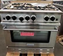 BLUE STAR 36  RNB SERIES STAINLESS STEEL RANGE OPEN BURNERS LARGE OVEN