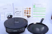 NUWAVE PRECISION INDUCTION COOKTOP 30131 with CAST IRON GRIDDLE  COOKBOOK