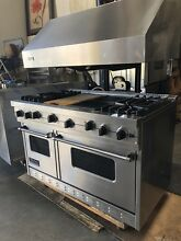 Viking professional 48 Inch Gas Range  110v Double Oven
