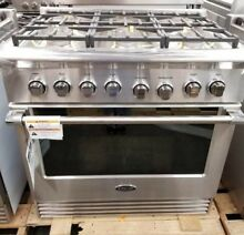 NEW OUT OF BOX DCS 36  DUAL FUEL RANGE STAINLESS STEEL