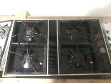 Jenn Air Expressions Black Downdraft Cooktop gas Stovetop 4 Burner  ready