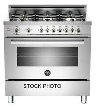 NEW OUT OF BOX BERTAZZONI 36  GAS RANGE 6 BURNERS STAINLESS STEEL
