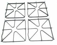 Gas Stove Top Burner Grate 4 Pack for General Electric AP2622735 PS244331 WB31K6
