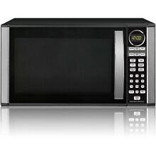 Hamilton Beach Microwave Oven CounterTop Stainless Steel Black 1 3 Free shipping