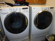 Kenmore Elite washer  dryer pair  white  front load  excellent condition
