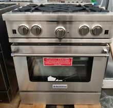 BLUE STAR 30  CULINARY SERIES OPEN BURNER RANGE STAINLESS STEEL