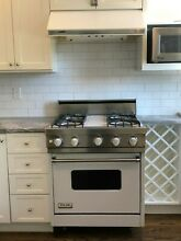 30  White Viking Stove  gas  and matching Viking Range hood