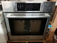 NEW OUT OF BOX BOSCH 27 INCH SINGLE STAINLESS WALL OVEN