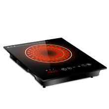 1800W Portable Electric Induction Cooktop Countertop Burner Timer
