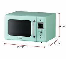 Microwave Oven Retro Vintage Kitchen Cooking 0 7 Cu 700W Daewoo Mint Green NEW