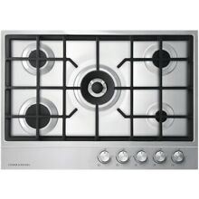 NEW OUT OF BOX FISHER PAYKEL 30  STAINLESS STEEL 5 BURNER COOKTOP
