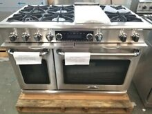 CAPITAL RANGE 48  DUAL FUEL RANGE STAINLESS 6 BURNERS AND GRIDDLE ROTISSERIE