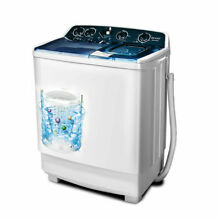21 LBS Semi Automatic Mini Washing Machine Compact Twin Tub Spiner Laundry New