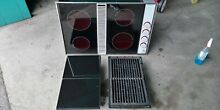 Jenn air cm200 downdraft white expressions with 2grill unit and 2 black covers