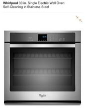 Whirlpool 30  Stainless Steel Single Electric Wall Oven WOS97ES0ES New Unopened