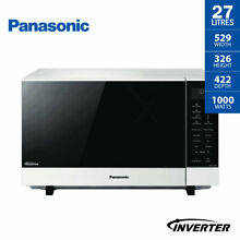 Panasonic 27 Litre Microwave Oven 1000W Flatbed Wide Inverter White NN SF564WQPQ