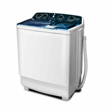 Portable Semi Automatic 21lbs Washing Machine Twin Tub Washer Spinner Dryer