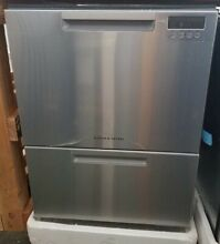 NEW OUT OF BOX FISHER PAYKEL DOUBLE DISHDRAWER STAINLESS STEEL