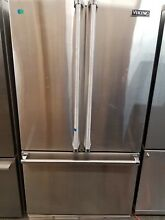 VIKING FRENCH DOOR COUNTER DEPTH REFRIGERATOR FREEZER STAINLESS STEEL