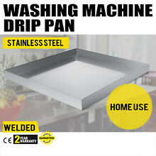 32 x30  Stainless Washing Machine Drain Pan Smooth Under Washer Tray Heavy Duty