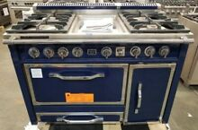 VIKING TUSCANY SERIES 48  DUAL FUEL RANGE DARK BLUE 4 GAS BURNERS AND GRIDDLE