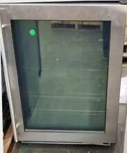 ULINE 24  GLASS DOOR UNDERCOUNTER REFRIGERATOR 1000 SERIES STAINLESS STEEL