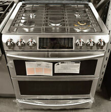 Samsung Chef Collection NY58J9850WS 30  Slide in Dual Fuel Range